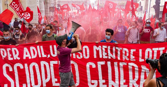 اعتصاب سراسری ایتالیاییها در پاسخ به حملات علیه نیروی کار